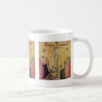 Christ On The Cross Between Mary And John Classic White Coffee Mug