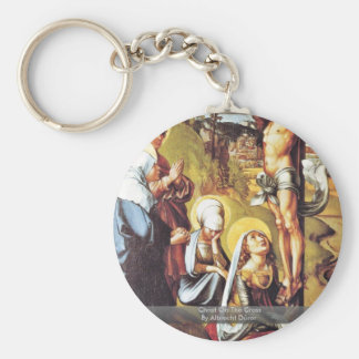 Christ On The Cross By Albrecht Dürer Basic Round Button Key Ring