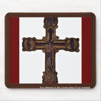 Christ On The Cross By Meister Des Reliquienkreuze Mouse Pad