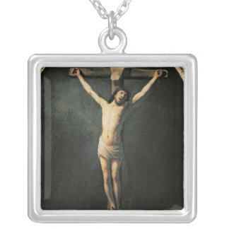 Christ on the Cross Silver Plated Necklace