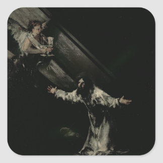 Christ on the Mount of Olives, 1819 Square Sticker