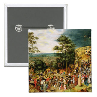 Christ on the Road to Calvary, 1607 15 Cm Square Badge