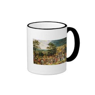 Christ on the Road to Calvary, 1607 Ringer Coffee Mug