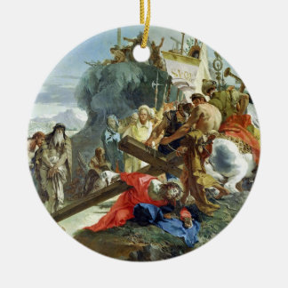 Christ on the Road to Calvary, 1749 (oil on canvas Round Ceramic Decoration
