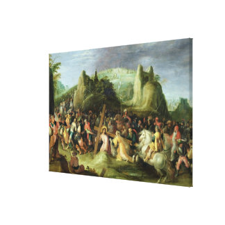 Christ on the Road to Calvary Canvas Print
