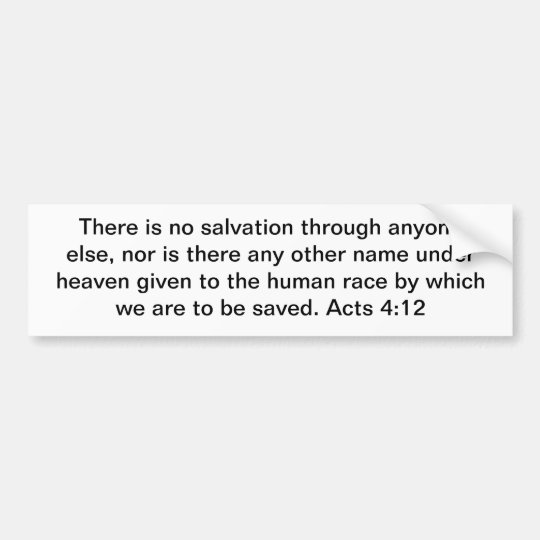 Christ Our Only Salvation! Bumper Sticker