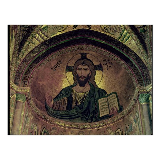 Christ Pantocrat in the apse Postcard