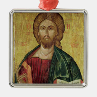 Christ Pantocrator, 1607 Silver-Colored Square Decoration