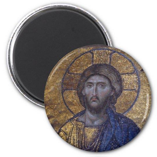 Christ Pantocrator 6 Cm Round Magnet