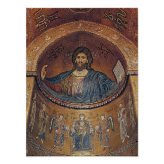 Christ Pantocrator and the Madonna Poster