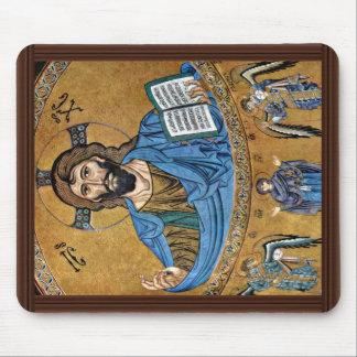 Christ Pantocrator By Meister Von Cefalã¹ (Best Qu Mouse Pad