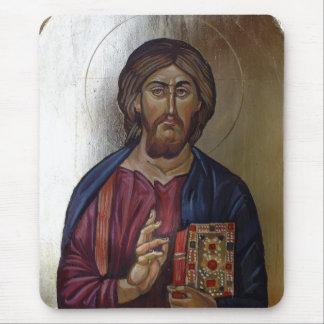 Christ Pantocrator - Byzantine Style Icon Mouse Pad