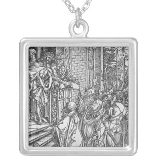 Christ presented to the people silver plated necklace
