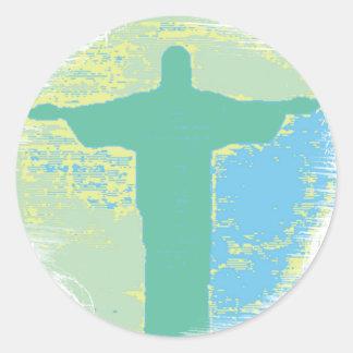 """""""Christ"""" Rio-Brazil Round Sticker"""