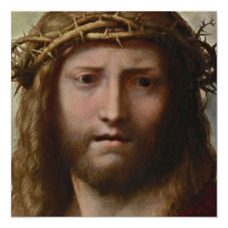 Christ Risen Portrait 13 Cm X 13 Cm Square Invitation Card