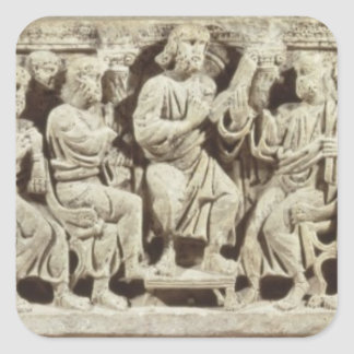 Christ seated and teaching surrounded by the Apost Stickers