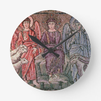 Christ Separates the Sheep from the Goats, 6th cen Round Clock