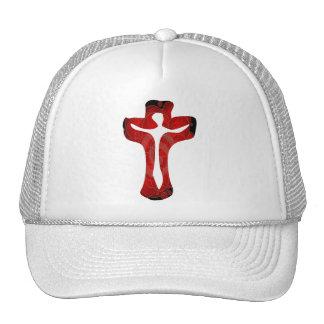 Christ sur croix rouge cap