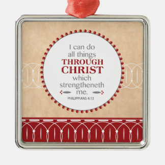Christ Sustains Me Christmas Ornament