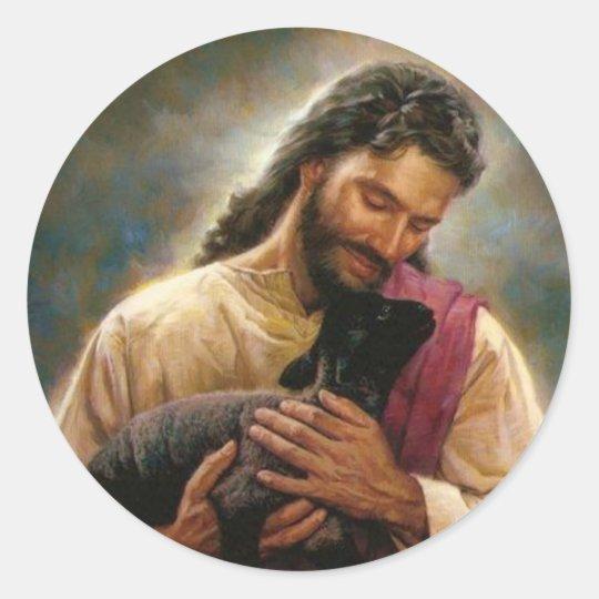 Christ The Good Shepherd Classic Round Sticker