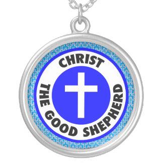 Christ the Good Shepherd Round Pendant Necklace