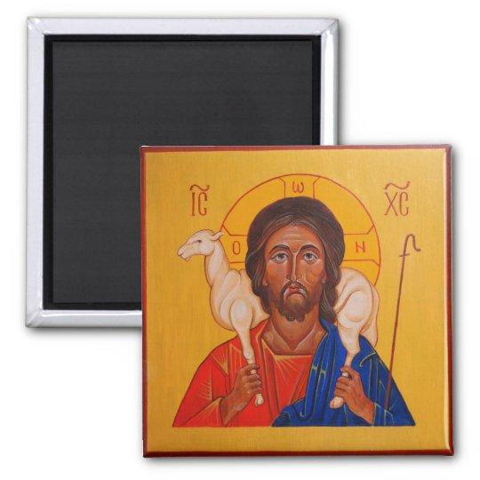 Christ the Good Shepherd Orthodox Icon magnet