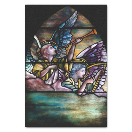 Christ the High Priest Stained Glass Christmas Tissue