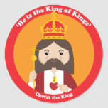 Christ the King Round Stickers
