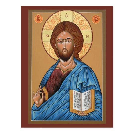 Christ the Light Giver Prayer Card Postcard