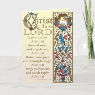 Christ the Lord is Risen Today Easter Card