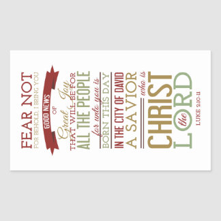 Christ the Lord Rectangular Sticker