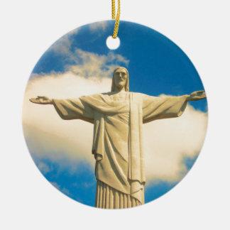 Christ the Redeemer Round Ceramic Decoration