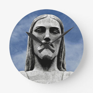 Christ the Redeemer Round Clock