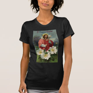 Christ the Shepherd with Lamb Vintage Easter T-Shirt