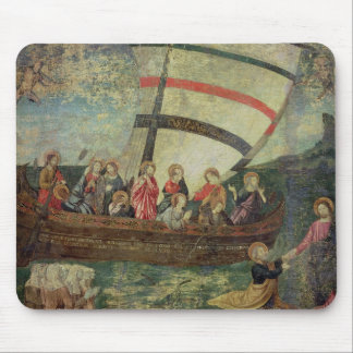 Christ walking on the water, after the 'Navicella' Mouse Mat