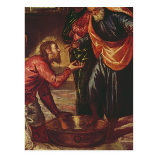 Christ Washing the Feet of the Disciples Postcard