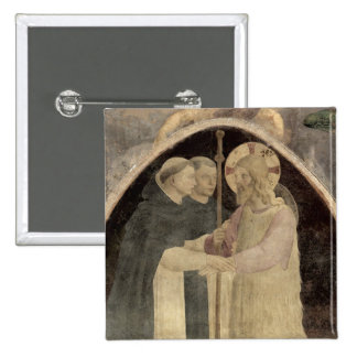 Christ Welcomes Two Dominican Friars, (fresco) (de 15 Cm Square Badge