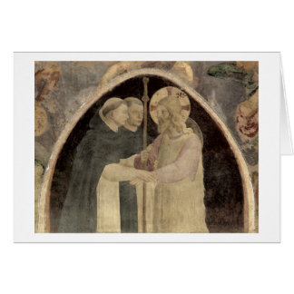 Christ Welcomes Two Dominican Friars, (fresco) (de Card