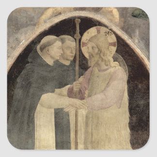 Christ Welcomes Two Dominican Friars, (fresco) (de Square Sticker