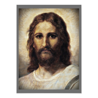 Christ with Compassionate Eyes 14 Cm X 19 Cm Invitation Card