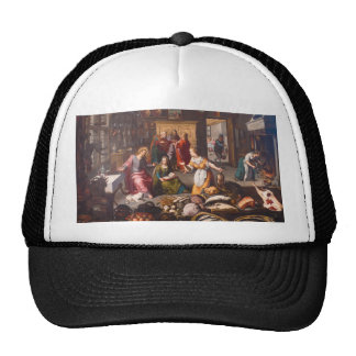 Christ with Martha and Mary by Joos Goemare Mesh Hat
