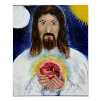 Christ With Pomegranate Poster