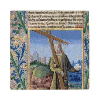 Christ with the Cross and the orb Wood Coaster