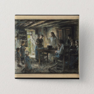 Christ with the Meek, 1903-04 15 Cm Square Badge