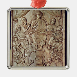 Christ with the Twelve Apostles Silver-Colored Square Decoration