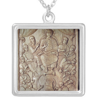 Christ with the Twelve Apostles Silver Plated Necklace