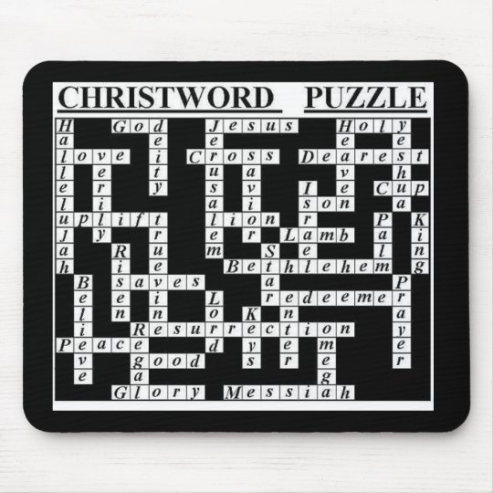 CHRIST-Word Puzzle Mouse Mat