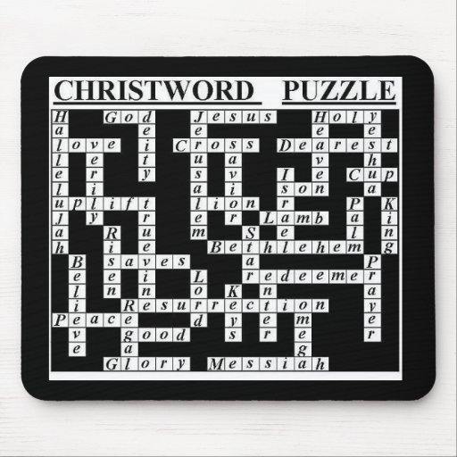 CHRIST-Word Puzzle Mouse Mats