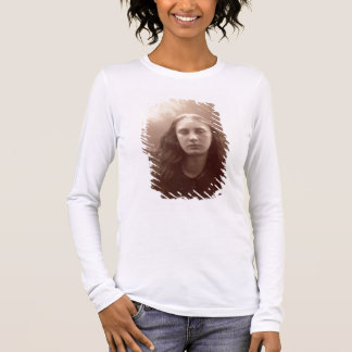 Christabel, portrait of May Prinsep, c.1867 (sepia Long Sleeve T-Shirt