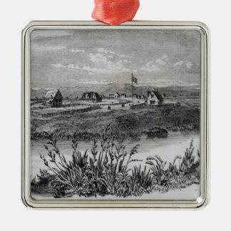 Christchurch, Canterbury Colony, New Zealand Christmas Ornament